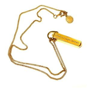 Marc by Marc Jacobs Gold Pyramid Bar Necklace